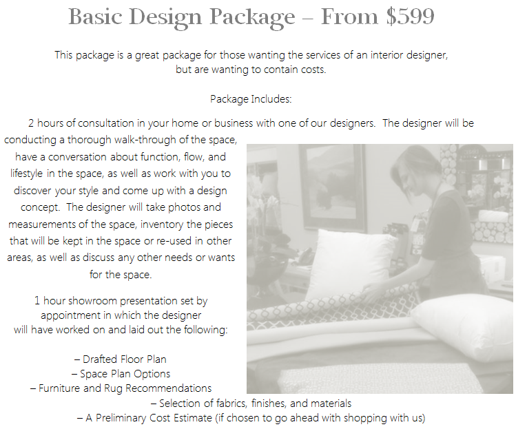 Interior Design Services Basic Package