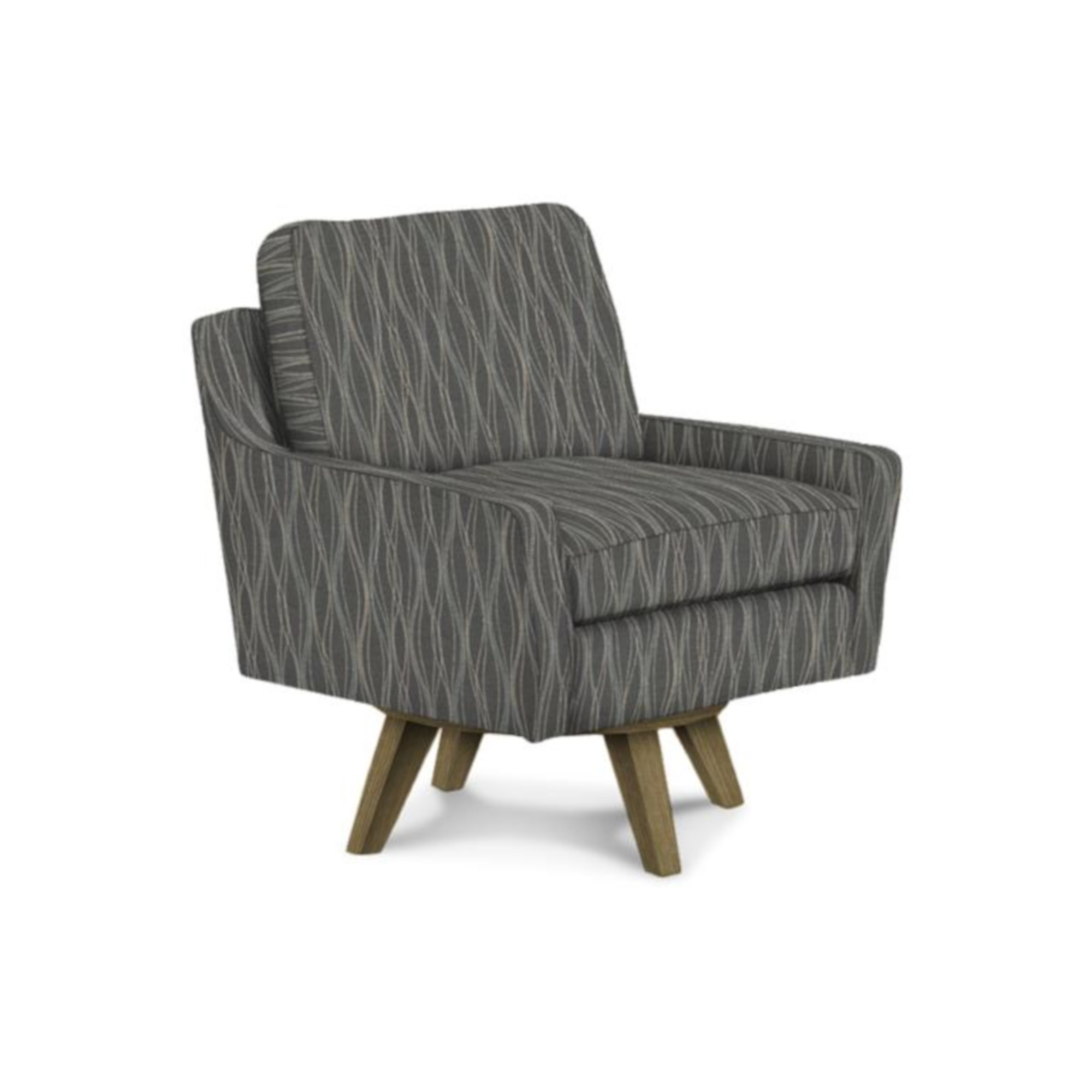 Image of: Seymour Swivel Chair In Blue Rockridge Furniture Design