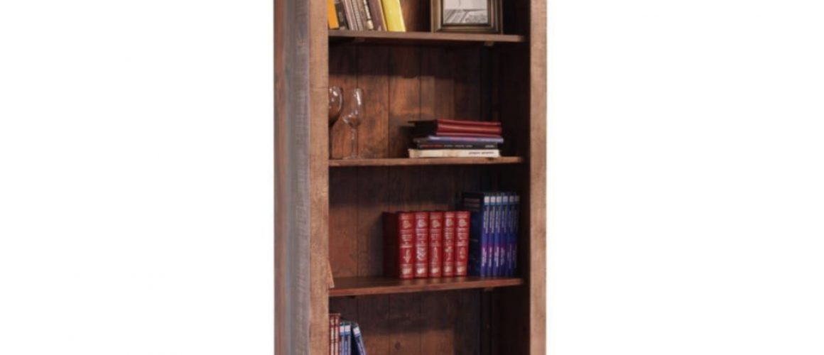 Rustic Industrial Open Bookcase