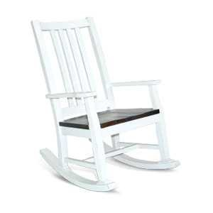 Bourbon County Slatback Rocker w/ Wood Seat
