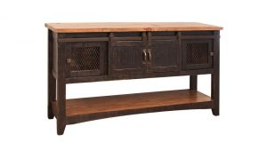 Pueblo Black Sofa Table 4