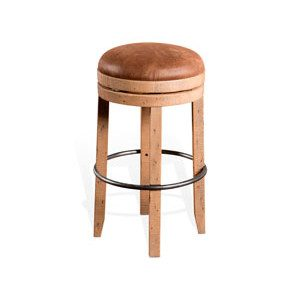 Sunny Backless Barstool w/ Swivel  & Cushion Seat