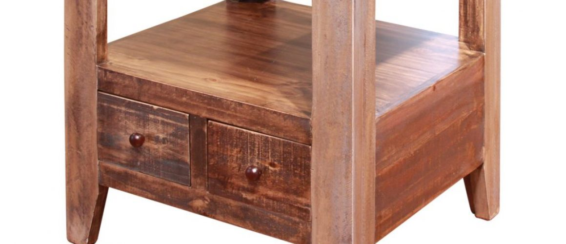 Antique Multi-Drawer End Table