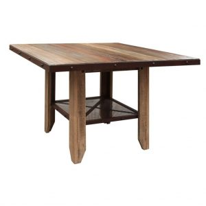 """Antique Multicolor 52"""" Counter Height Dining Table"""
