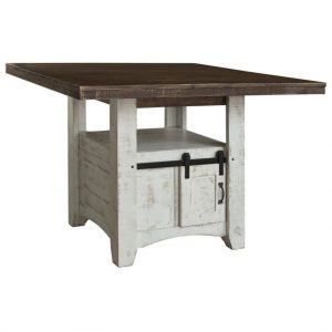 Pueblo White Counter Height Dining Table