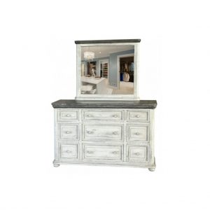 Luna 9 Drawer Dresser with Mirror