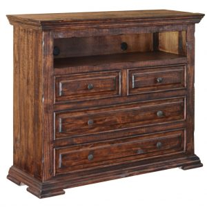 Terra Brown 4 Drawer Media Chest