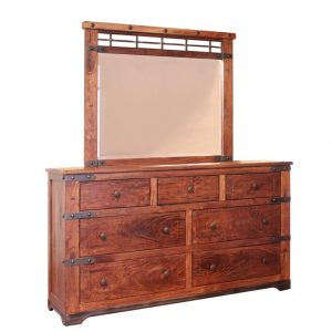 Parota 7 Drawer Dresser with Mirror