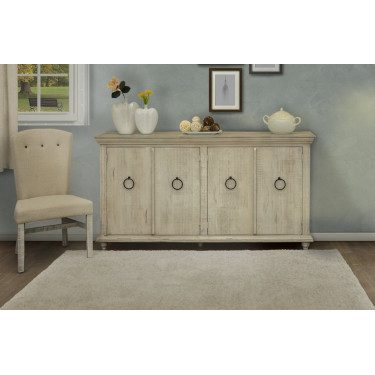White Capri Console for Storage