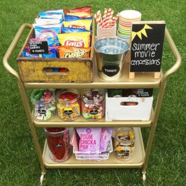 Bar Cart with Snacks