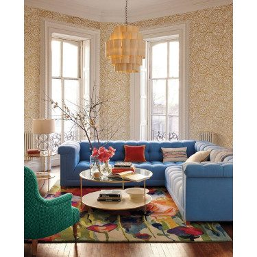 Bold Seating in Family Room