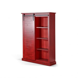 Bookcase with Barn Door