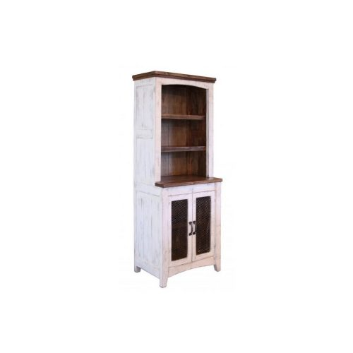 Pueblo White Bookcase