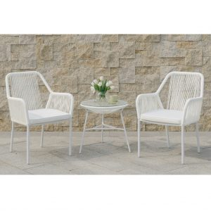 Maxwell 3-Pcs Outdoor Set in White