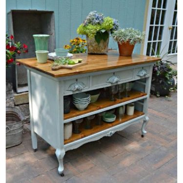 repurposed dresser kitchen island