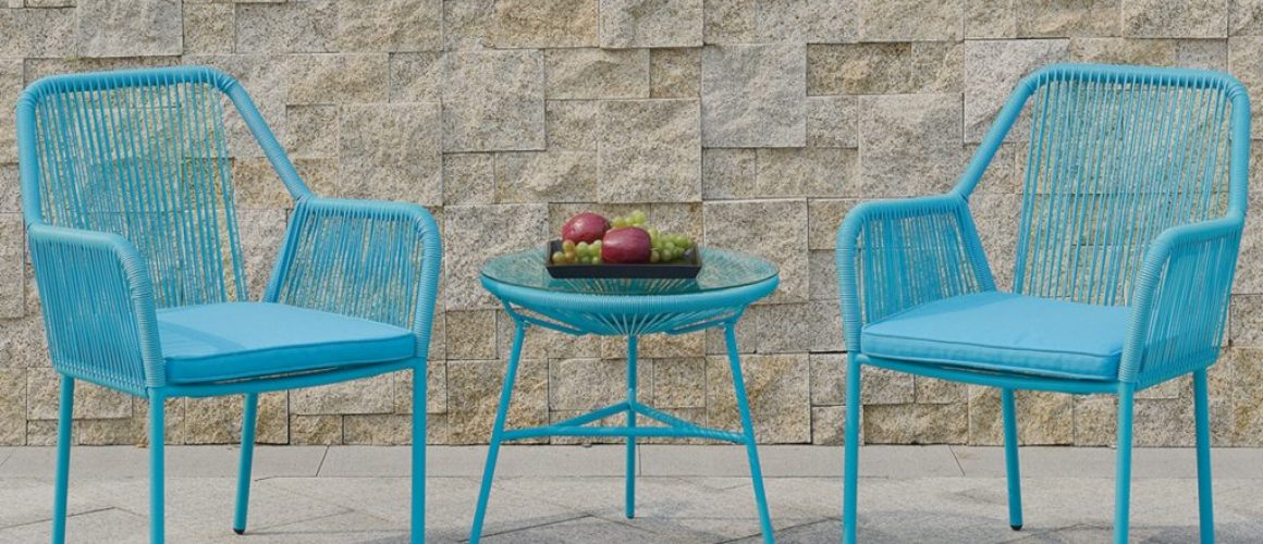 Maxwell 3-Pcs Outdoor Set in Blue
