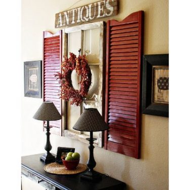 repurposed window shutters decor