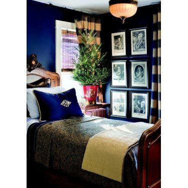 royal blue small bedroom