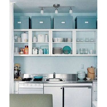 storage above kitchen cabinets
