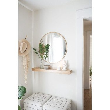 floating shelves small entryway