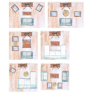 Layer furniture layout
