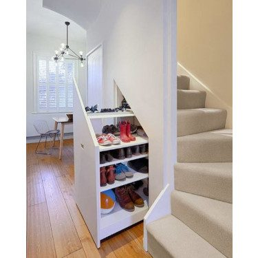 Built-In Storage Space Stairs