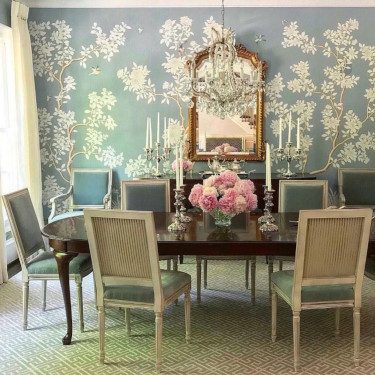 Dining Room Traditional Wallpaper