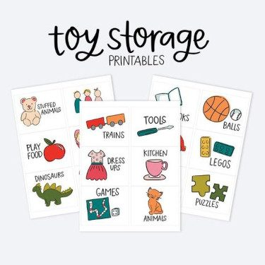 Kids Storage Label