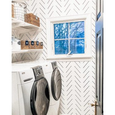 Laundry Room Wallpaper