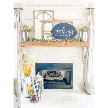 Spring Decor Fire Mantel