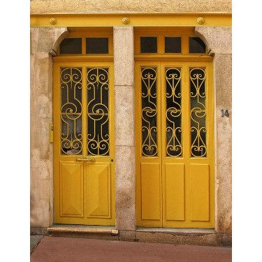 Yellow door in France