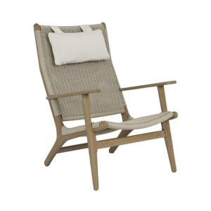 Coastal Teak Outdoor High Back Chair